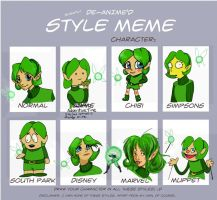 Style Meme Featuring Saria by TiaBean