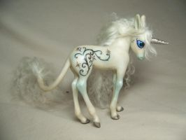 Silver Snow ooak unicorn pony by AmandaKathryn
