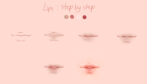 Lips step by step ( detail guide below ) by Thiemha