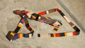 Doctor Who scarf necklace 2 by Monaki