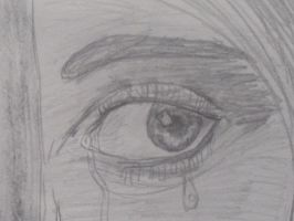 Crying Girl eye closeup by Rizzy-The-Awesome
