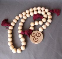Air Nomad Prayer bead necklace by MayuriMoon