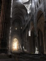 Abandoned Cathedral Print by gwhite206