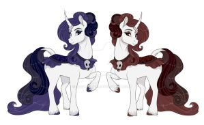 Gothic Unicorn sisters by Sugarcup91
