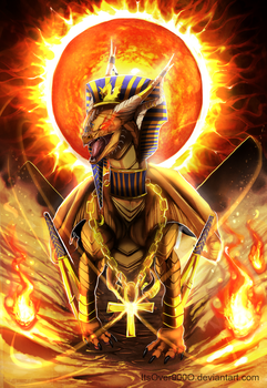 Challenging the Pharaoh + SPEEDPAINT by Ink-Leviathan