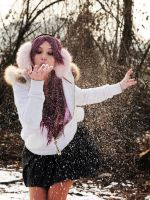 Me in the snow by Giorgiacosplay