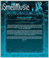 iSmellMusic Journal Skin by DC4894