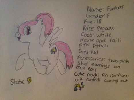 Funtats reference sheet by Staticpegasus