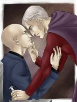 Professor X and Magneto by Fishik