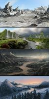 Landscapes by tutorials by pinkfall