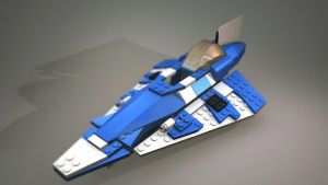 Plo Koon's Lego Spaceship by Magmabolt