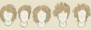 Finnick's hairstyles by xxIgnisxx