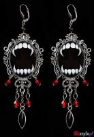 Vampire Earrings by Euflonica