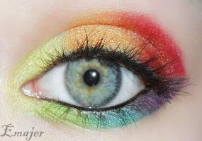Rainbow eye by Emajer
