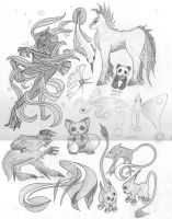 Random Mythical Creatures by Lost-In-Canada