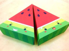 Watermelon craft by VerdeLeon