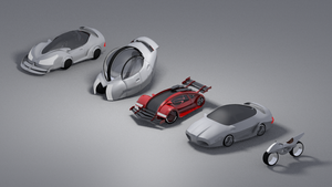 Old futuristic car concepts by Reaperrr1