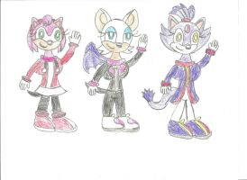 Sonic Girls at the Winter Olympics by LouisEugenioJR