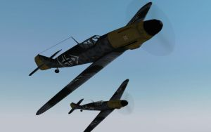 Messerschmitt Bf 109 by BillyM12345