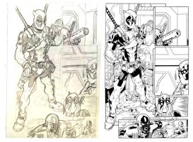 Deadpool Comic and Sketch by PhillieCheesie