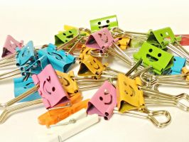 Paper/binder clips by KazePhotos