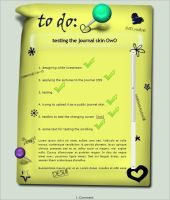 Note with pins - Journal skin by Ina-C