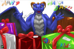 Hatchday for Drakion by WeisswindDragon