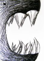 A monster. Pardee style. v.2 by blue--and--yellow
