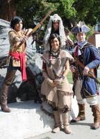 Fanime 2013 Kenway Family Photo by prettyfloralbonnet