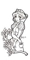 Snow White Lineart by BlueUndine