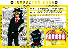 Pokemon Rainbow: Diego Aster by ChaChaFox
