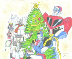 Merry Chritsmas 2013 Transformers by ailgara