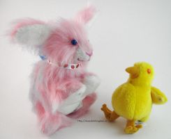 Easter Bunny and Chick Plush (WIN US!) by AnimalArtKingdom