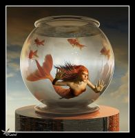Goldfish Mermaid. by Ryo-Says-Meow