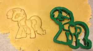 My Little Pony Rarity Cutter and dough by WarpzonePrints