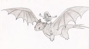Flying With My Dragon by juliahiddles