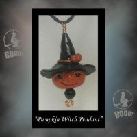 Pumpkin Witch Necklace by KabiDesigns