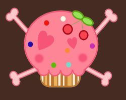 Cupcake Skull by mymelody1