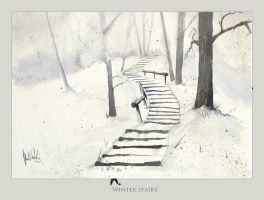 Winter stairs by mwolski