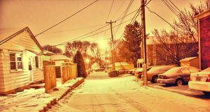 Street Lights at Dawn HDR by luckysam444