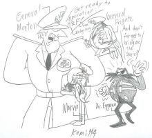 Dr.Eggman and Dark Mate Force! by komi114