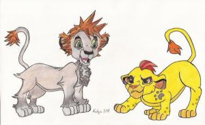Kingdom hearts Sora meets Kion by kalynvalcourt