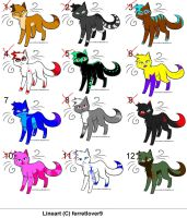Cat adoptables by Adoptables-FalakWolf