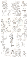 Sketch dump - June '14 by Granitoons