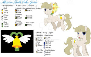 Project PPC: OC Mission Belle Color Guide by mscherbear