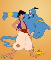 Aladdin and The Genie - WIP by MillerBox