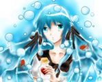 Bottle Miku - Her heart in a bottle by Kitsu-Yuzurin