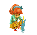 little girl by pervin