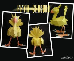 FFVII Chocobo Papercraft by acidic055