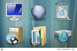 Vista Inspirate Windows  ICO  s by ipholio Iconos para Windows XP